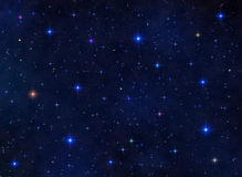Colorful starfield Stock Photo