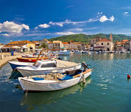 Colorful Stari Grad on Hvar island Royalty Free Stock Images