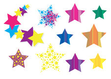 Colorful stars. Vector collection of star design elements Stock Photos