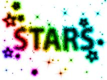 Colorful stars Royalty Free Stock Image