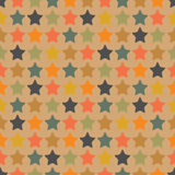 Colorful stars. Seamless pattern with small colorful  stars Stock Photos
