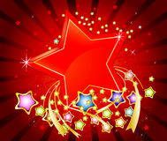 Colorful stars abstract background Royalty Free Stock Photography