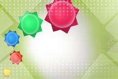 Colorful stars, abstract background Stock Photography