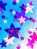 Colorful stars background stock illustration