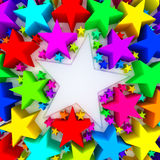 Colorful stars. Background - 3D render Royalty Free Stock Photo