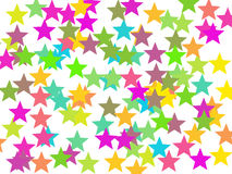Colorful stars background. The colorful stars background, illustration Royalty Free Stock Photos