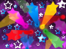 Colorful Stars Background Means Heavens Rays And Shining Stock Image