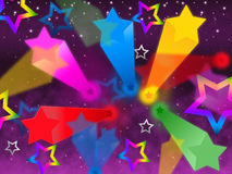 Colorful Stars Background Means Rainbow Space And Bright Stock Photos