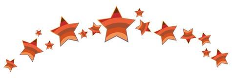 Colorful Stars border like banner. Vector illustration of colorful stars like vibgyor on isolated background Stock Image