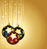 Colorful stars christmas balls Stock Photo
