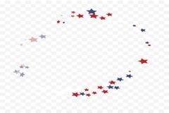 Scattered funky stars vector illustration