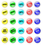 Colorful stars for discount prices Stock Images