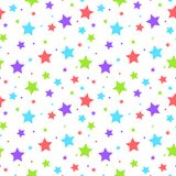 Colorful stars and dots seamless pattern. Design vector illustration