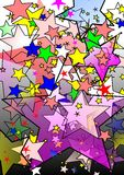 Colorful stars graphic  Royalty Free Stock Images