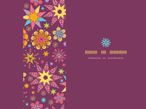 Colorful stars horizontal seamless pattern Stock Photography