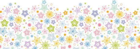 Colorful stars horizontal seamless pattern Stock Images