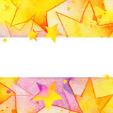 Colorful stars. Kids background. For Birthday and children's holiday. watercolor illustration Royalty Free Stock Photography