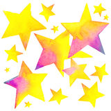 Colorful stars. Kids background Stock Image