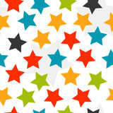 Colorful stars seamless background Stock Photos
