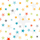 Colorful stars seamless background Stock Photo