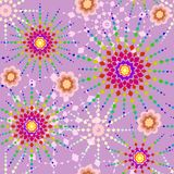Colorful stars seamless pattern Stock Images