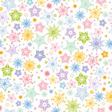 Colorful stars seamless pattern background Royalty Free Stock Photo