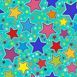 Colorful stars seamless pattern Royalty Free Stock Images