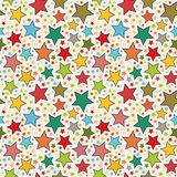 Colorful stars seamless pattern Royalty Free Stock Photos