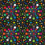 Colorful Stars Seamless Pattern_eps. Illustration of starry night with colorful stars seamless pattern on gradient colors background. --- This .eps file info vector illustration