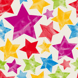 Colorful stars seamless pattern. Royalty Free Stock Photo