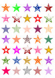 Colorful stars Stock Image