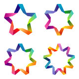 Colorful stars set Stock Photos