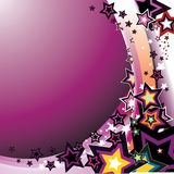 Colorful stars - vector. Colorful stars on purple background - vector illustration Stock Photography