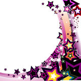 Colorful stars - vector. Colorful stars isolated white background - vector illustration Stock Images