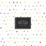 Colorful stars vector pattern background. Illustration Stock Photography