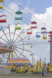 Colorful State Fair Rides Stock Image
