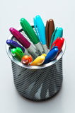 A Colorful Statement. Several marker pens make a colorful statement. This image is from a series of taken with different perspectives stock image