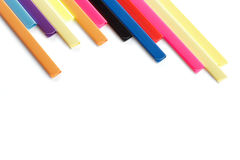 Colorful stationary on white. Stock Photo