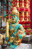 Colorful statue in asian temple Royalty Free Stock Photos