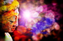 Colorful statue of budha Royalty Free Stock Image