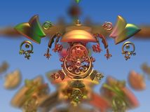 Colorful statue fractal Royalty Free Stock Photography