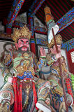 Colorful statues in buddhist temple Stock Image