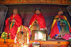 Colorful statues  at  chinese buddhist temple Stock Images