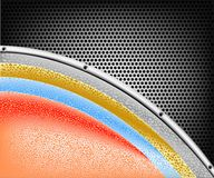 Colorful on steel Royalty Free Stock Photography