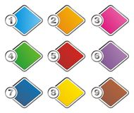 Colorful 1-9 step background. Suitable for user interface Stock Photography