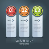 Colorful step up options banner template. Royalty Free Stock Photography