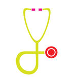 Colorful stethoscope icon vector isolated in white background. Royalty Free Stock Photos