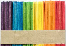 Colorful stick background and texture. Royalty Free Stock Photography