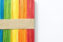 Colorful stick background and texture. Royalty Free Stock Photos