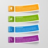 Colorful sticker banners. Infographic concept. Royalty Free Stock Photography